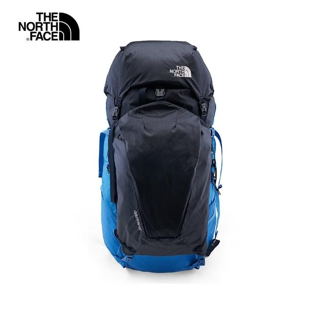【The North Face】The North Face北面男女款藍色拼接舒適背負專業登山包|3S8CPP9