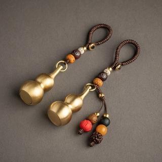 【米蘭精品】手機掛飾鑰匙扣(純銅葫蘆個性手工包包配飾母親節情人節生日禮物16款73xd3)