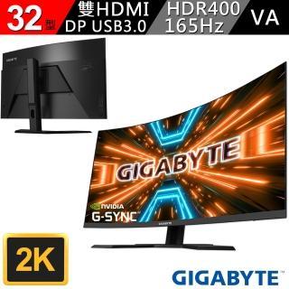 【GIGABYTE 技嘉】技嘉 G32QC 32型 2K 165Hz HDR400 曲面電競螢幕(G32QC-AP)