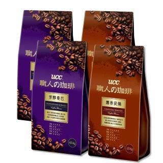 【UCC】經典曼巴+炭燒風味咖啡豆x4入組(454g/包)