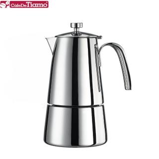 【Tiamo】502不鏽鋼摩卡壺4杯份(HA1583)