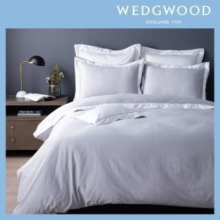 【WEDGWOOD】300織長纖棉Life-Color素色被套枕套組-灰(加大)