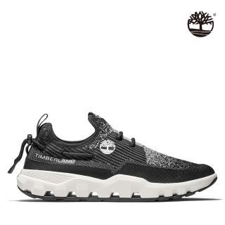 【Timberland】男款黑色織面休閒鞋(A2BY5015)