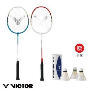 【VICTOR 勝利體育】穿線拍 對拍組 ARS-1010(加贈1/4打羽毛球)