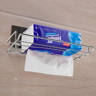 【強力無痕貼】不鏽鋼抽取式衛生紙架(材質最新升級 多年熱銷款式 收納架 浴室收納 廚房收納 衛生紙架)