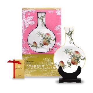 【TALES 神話言】瓶安蘸福-蟠桃醬碟筷架(文創 禮品 禮物 收藏)