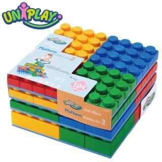 【UNiPLAY】抗菌軟積木-軟積木建築組合124入