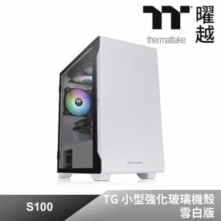 【Thermaltake 曜越】S100 TG 小型強化玻璃機殼雪白版(CA-1Q9-00S6WN-00)