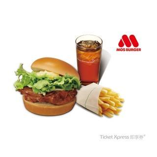 【摩斯漢堡】C123蜜汁烤雞堡+大薯條+大杯冰紅茶(即享券)