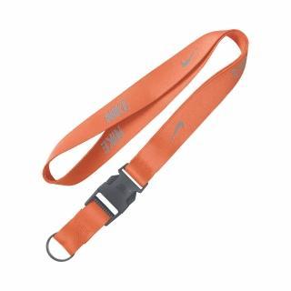【NIKE 耐吉】識別證吊帶 Lanyard 男女款 上班族 掛繩 基本款 電繡LOGO 橘 灰(NIA1782-6NS)