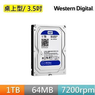 【WD 威騰】藍標 1TB 桌上型3.5吋 SATA硬碟(WD10EZEX)