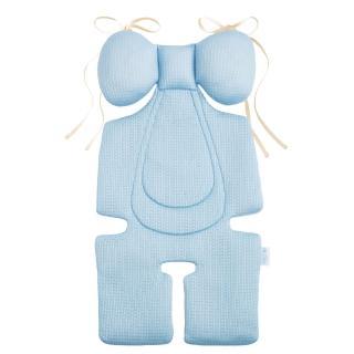 【air cossi】超透氣抗菌天絲座墊_嬰兒推車汽座枕頭(寶寶頭頸支撐綁帶款4m-3y-3色可選)