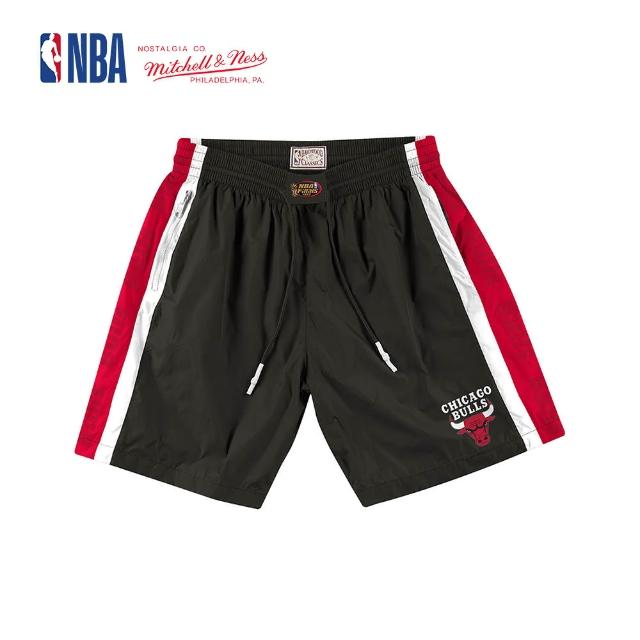 【NBA】M&N Mitchell & Ness 復古球衣 短褲 NBA PACKABLE NYLON SHORTS 公牛隊 登山 運動(MN9B-SH01CB)