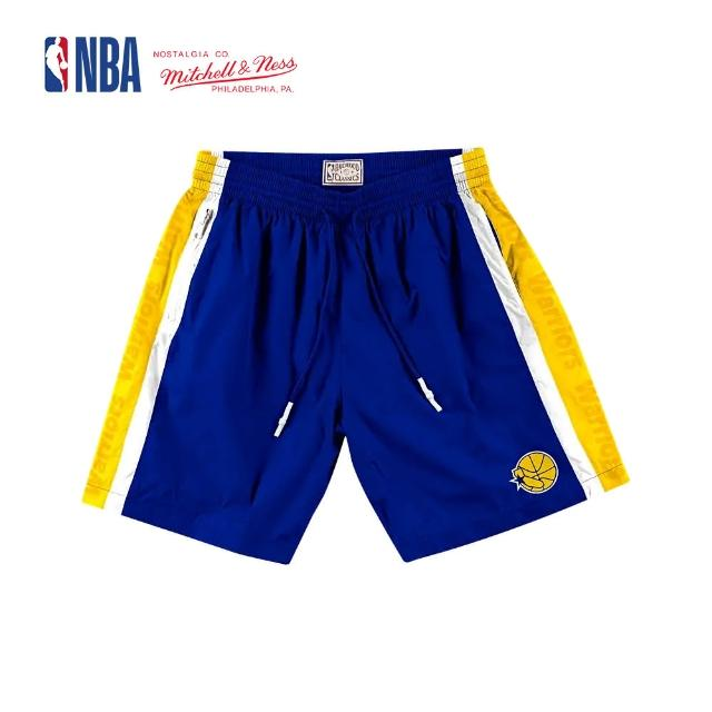 【NBA】M&N Mitchell & Ness 復古球衣 短褲 NBA PACKABLE NYLON SHORTS 勇士隊 登山 運動(MN9B-SH01GSW)