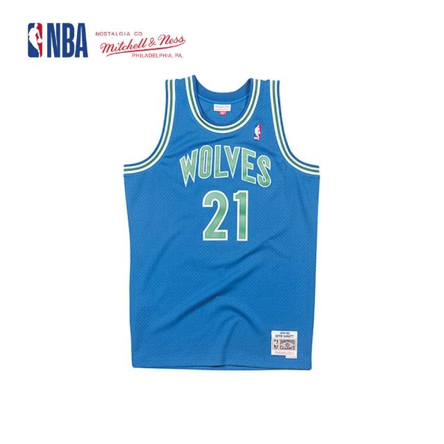 【NBA】M&N Mitchell & Ness 復古球衣 SW 球迷版 KEVIN GARNETT #21 灰狼隊 95-96 客場 狼王(MNSWJ-G214DR)