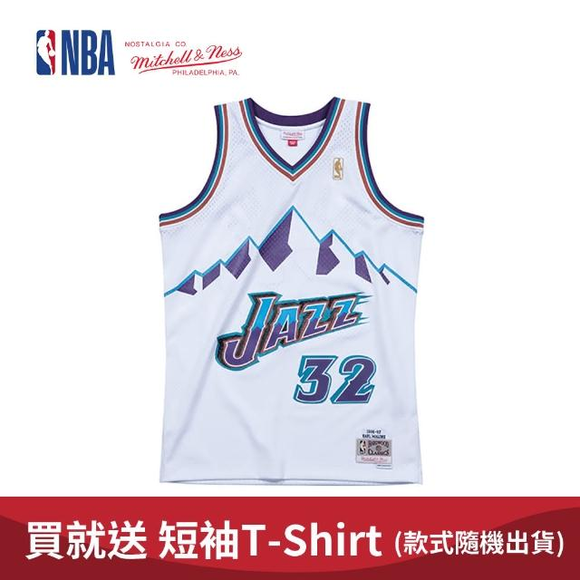 【NBA】M&N Mitchell & Ness 復古球衣 SW 球迷版 KARL MALONE #32 爵士隊 96-97 客場 馬龍(MNSWJ-G284B)