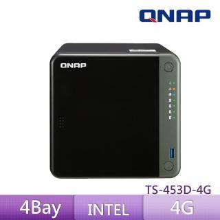 【QNAP 威聯通】TS-453D-4G 4Bay 網路儲存伺服器