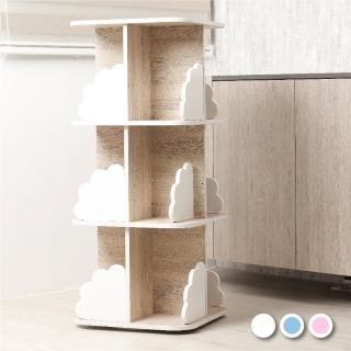 【MyTolek 童樂可】轉圈圈 收納書櫃(旋轉書櫃 兒童收納櫃 展示櫃)