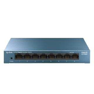 【TP-Link】LS108G 8埠10/100/1000Mbps  桌上/壁掛兩用 流量管理  乙太網路交換器switch hub