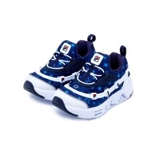 【FILA】KIDS GGUMI LIGHT PT 中童運動鞋-藍/白(2-C140U-421)