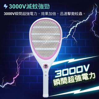 【大家源】〈超值2入組〉電池式四層密網電蚊拍-小黑蚊剋星(TCY-6106)