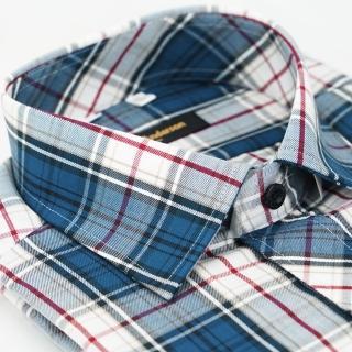 【金安德森】藍白經典格紋窄版長袖襯衫/