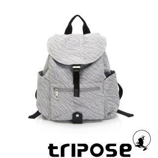 【tripose】ARTFRICA緹花布後背包-小(斑馬灰)