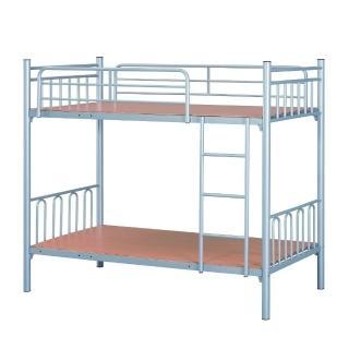 【MUNA 家居】雙層烤銀鐵床T1-14(雙層床 上下舖)