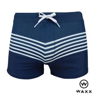 【WAXX】海島系列-ULUWATU烏魯塔圖吸濕排汗男四角泳褲(海藍色)