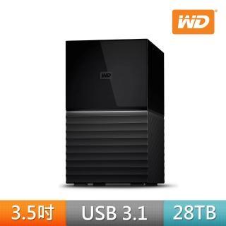 【WD 威騰】My Book Duo 28TB 3.5吋 USB3.1雙硬碟儲存(WDBFBE0280JBK-SESN)