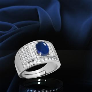 【ROUND WELL 浪威錶】天然藍寶石戒指(RW7003)