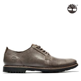 【Timberland】男款深棕色全粒面商務系鞋帶皮鞋(A1QE6931)/