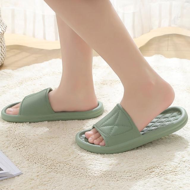 【告別腳跟痛】簡約Q彈加厚居家/浴室拖鞋(多色可挑選)/