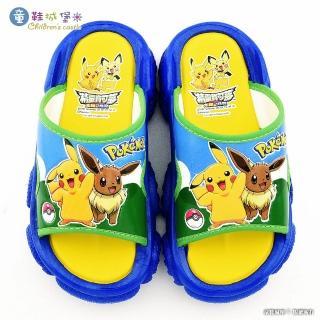 【童鞋城堡】童鞋城堡-神奇寶貝 寶可夢 伊布戶外拖鞋戶外拖鞋(PA1772-藍)