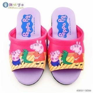 【童鞋城堡】佩佩豬室內拖鞋 粉紅豬小妹(PG0082-桃)