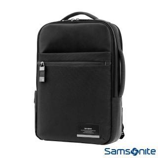【Samsonite 新秀麗】Vestor商務保護隔層筆電後背包(黑)