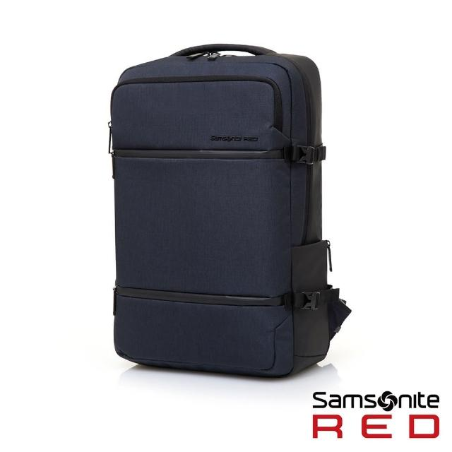 【Samsonite RED】CARITANI 簡約隔層筆電後背包(多色可選)