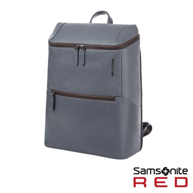 【Samsonite RED】BENINGTON 商務皮革筆電後背包14(多色可選)