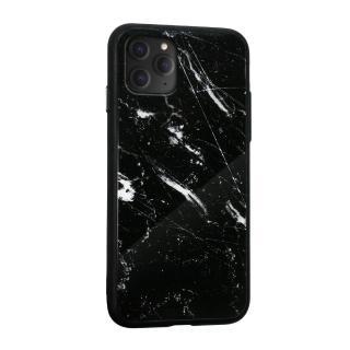 【iDeatry】韓風大理石高質感玻璃殼 iPhone 11 Pro Max / i11 Pro Max 保護殼 矽膠軟邊 手機殼(硬殼)