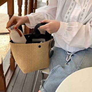【OT SHOP】手提 草編包 編織包  H2056(磁扣 夏季海邊沙灘渡假風 田園風 休閒百搭配件)