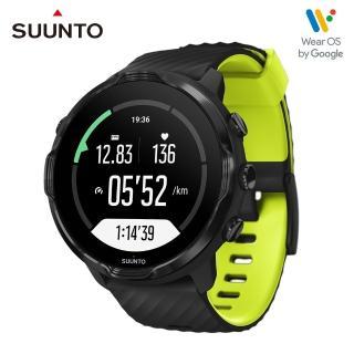 【SUUNTO】Suunto 7 結合豐富的戶外運動與智慧生活功能於一體的GPS腕錶(經典黑 萊姆綠)