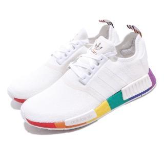 【adidas 愛迪達】休閒鞋 NMD_R1 Pride 襪套式 男女鞋 愛迪達 彩虹驕傲 流行款 Boost 穿搭 白彩(FY9024)