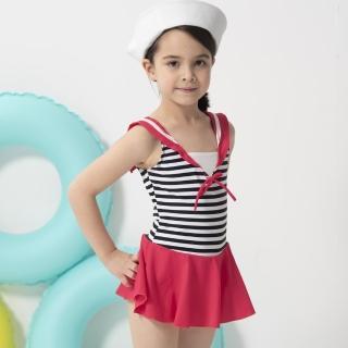 【SARBIS】女童連身裙泳裝附泳帽(B882001)