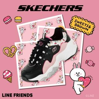 【SKECHERS】女 休閒系列 D LITES 3.0 - LINE FRIENDS 兔兔限定款(66666255BKPK)