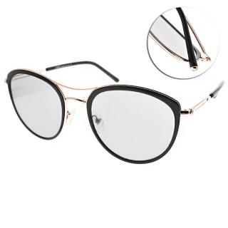 【CARIN】雙槓造型貓眼太陽眼鏡(黑-金-藍鏡片#KATE C1)