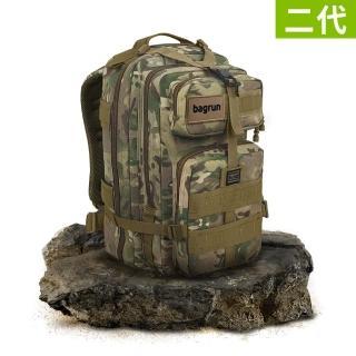 【Bagrun】二代都會玩家軍事風格瞬開後背包-L-多地形迷彩/