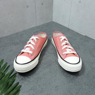 【X-INGCHI 帆布帆】X-INGCHI 女款粉色帆布穆勒鞋-NO.X0172