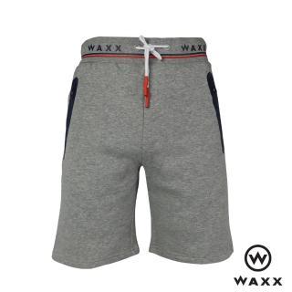 【WAXX】經典系列綁繩男休閒短褲(淺灰色)
