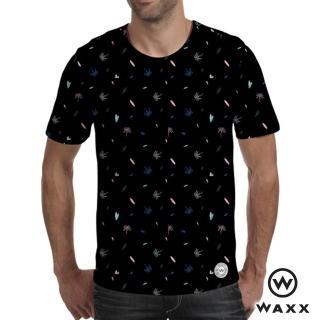 【WAXX】FUNNY嬉鬧元素設計款限量短袖T恤/男上衣/男TEE(黑色)