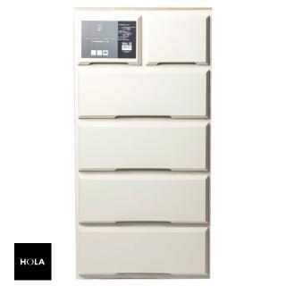 【HOLA】木紋抽屜收納櫃 寬55cm 五層